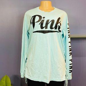 PINK Victoria's Secret Lace Up Sides Shirt
